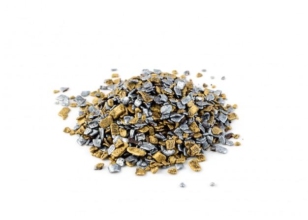 Confettini dolci oro e argento isolati