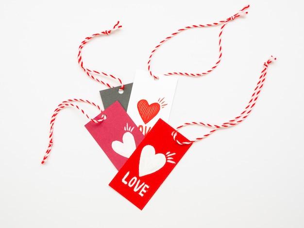 Confezione di tag di san valentino carino