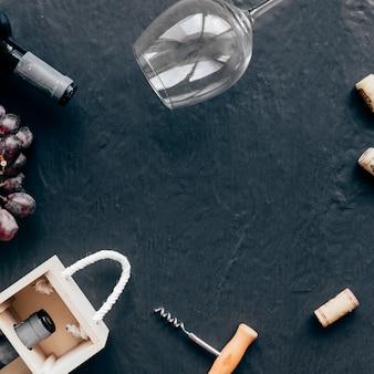 Confine da vino e tappi