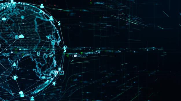 Connessione dati rete tecnologia