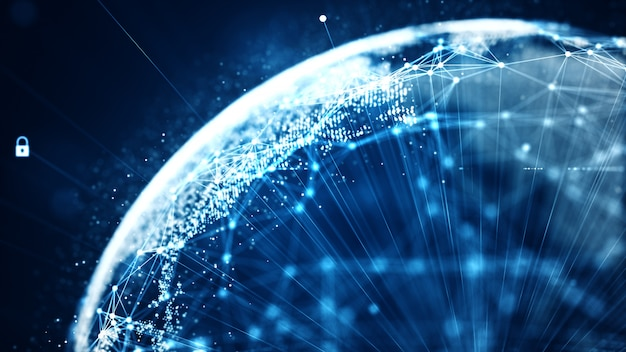 Connettività di rete di dati binari di dati di tecnologia