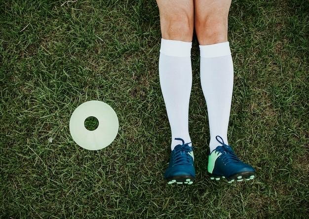Cono del disco e borchie da calcio