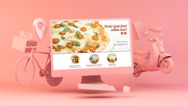 Consegna online di fast food rder