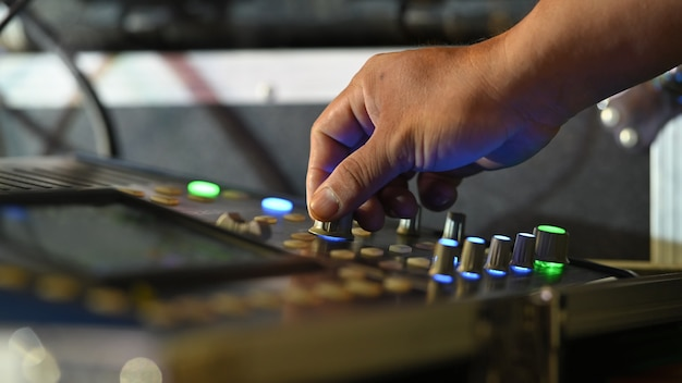 Console del mixer audio audio