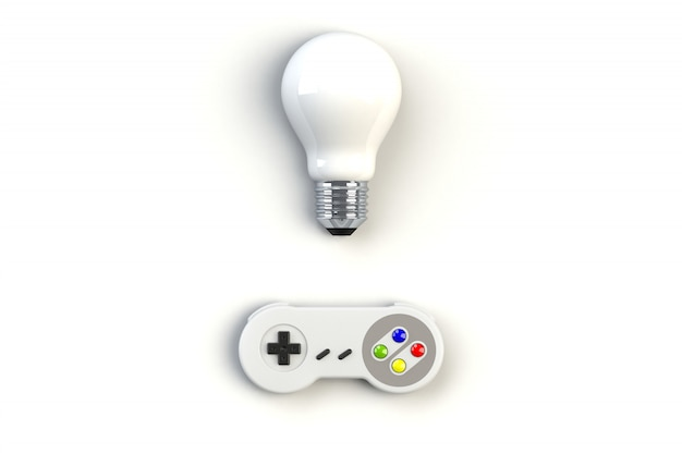 Console per videogiochi gamepad. concetto di gioco