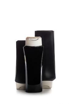 Contenitori cosmetici isolati su bianco