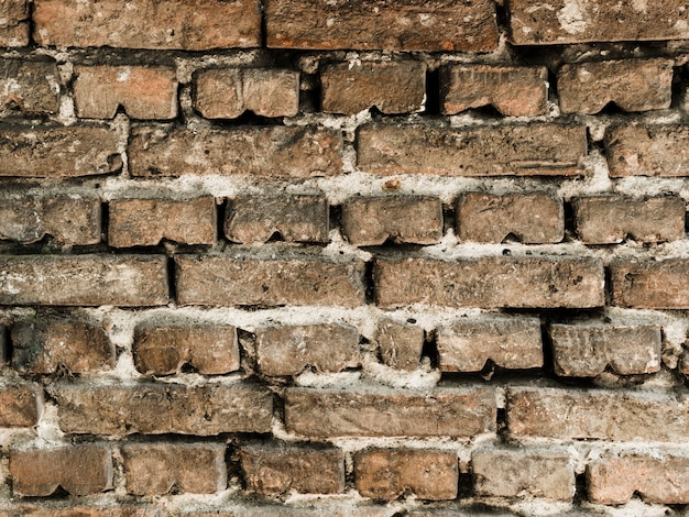Contesto strutturato del vecchio muro di mattoni d'annata