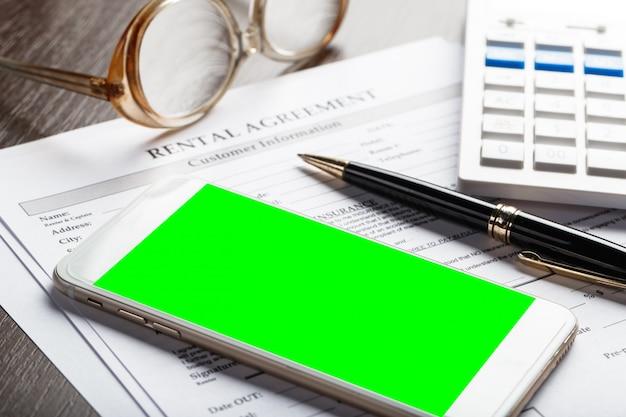 Contratto di locazione o documento di noleggio