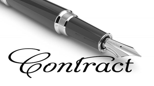 Contratto scritto a mano con penna stilografica