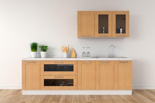 Controsoffitto cucina moderna bianca con lavello per