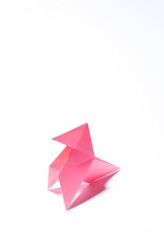Copertina del libro origami bianco