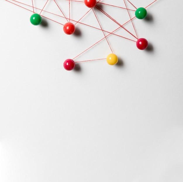 Copi lo spazio e la mappa colorata della puntina da disegno
