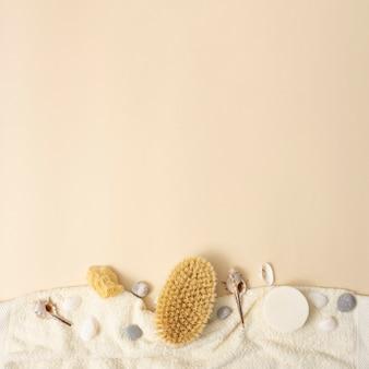 Copia-spazio con prodotti aromatici spa