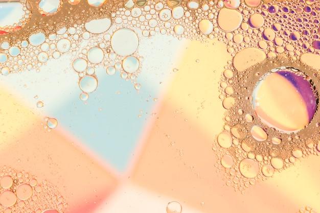 Copia spazio cornice di colori caldi olio