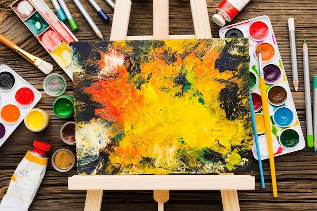 Copia spazio dipinto su tela