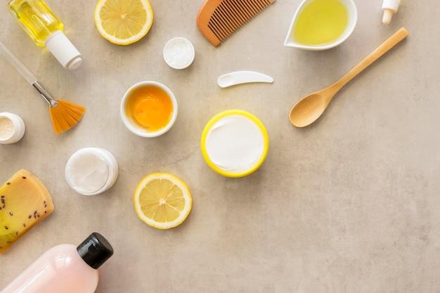 Copia spazio piatto laico spa cosmetici naturali