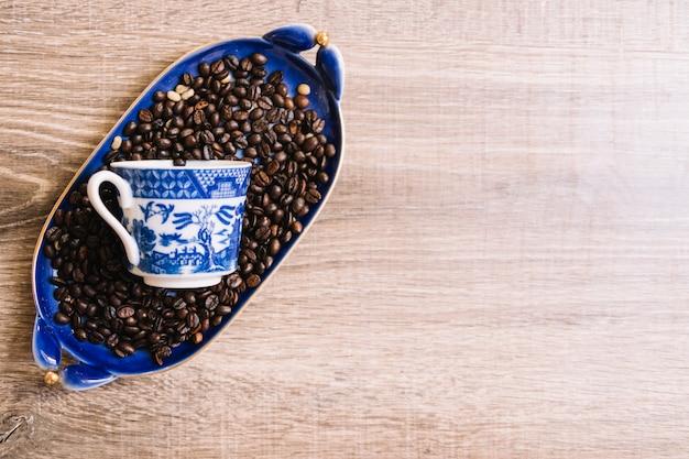 Coppa sui chicchi di caffè