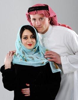 Coppia araba, moglie e marito