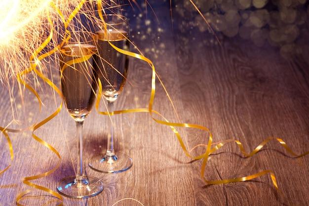 Coppia bicchieri di champagne