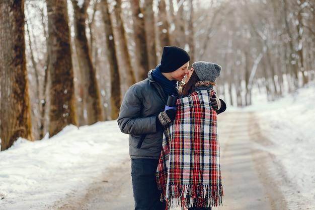 Coppia in un inverno