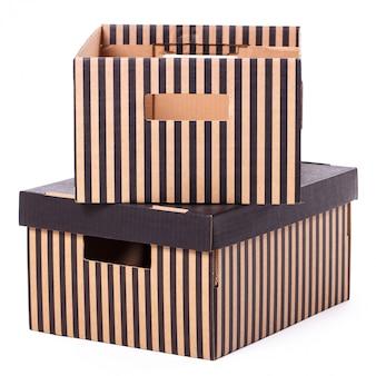 Coppia isolata scatola a strisce