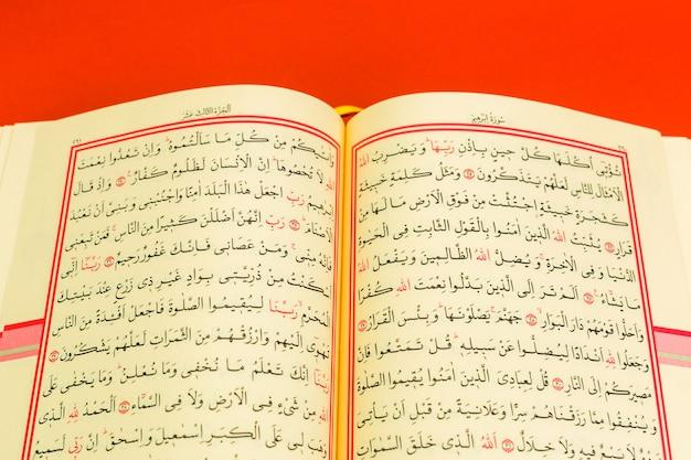Corano - libro di agrifoglio dell'islam