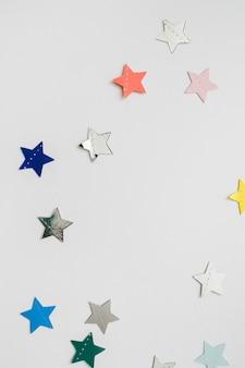 Coriandoli a forma di stella