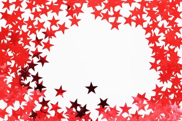 Coriandoli di stelle rosse