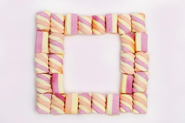 Cornice da dolci marshmallow.