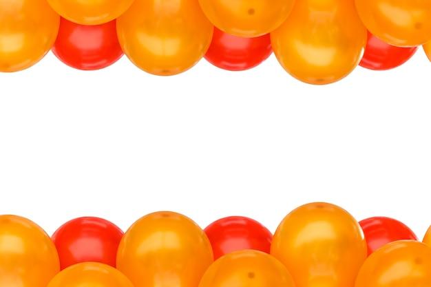 Cornice del palloncino del partito isolata su spazio bianco per testo