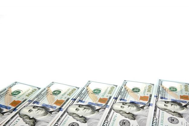 Cornice di banconote in tagli da 100 dollari