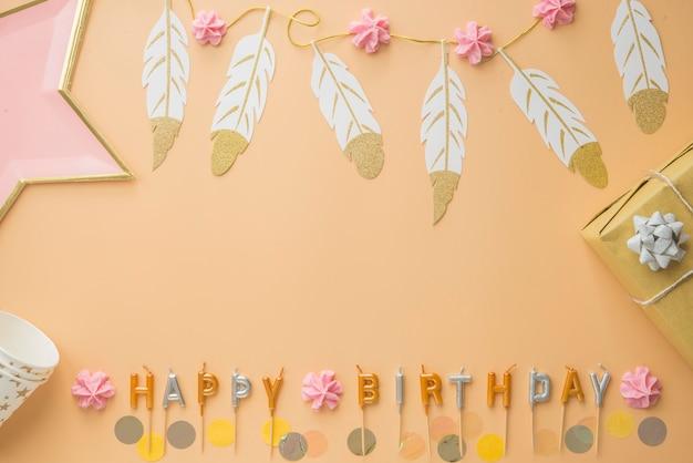 Cornice di buon compleanno celebrazione festa