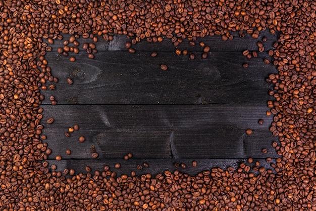 Cornice di chicchi di caffè