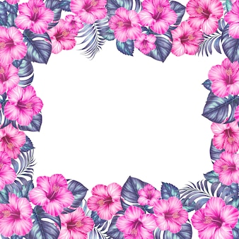 Cornice di fiori esotici