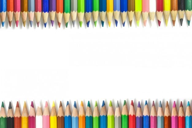 Cornice di matite colorate