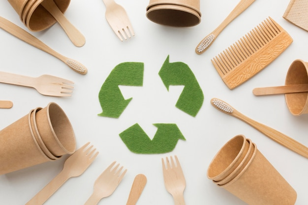 Cornice di prodotti ecologici