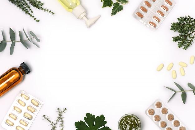 Cornice di prodotti sanitari