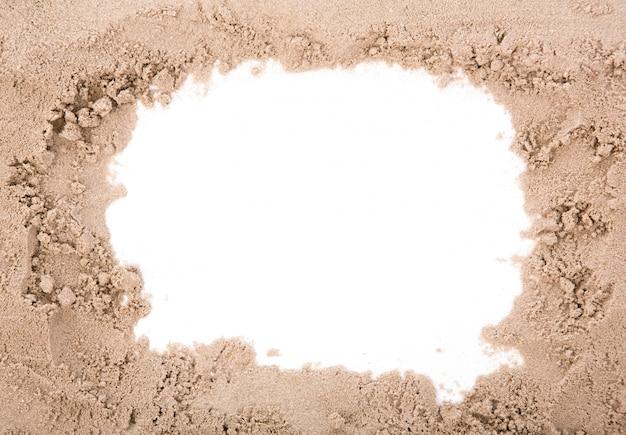 Cornice di sabbia con lo spazio della copia