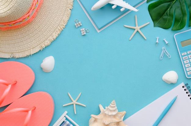 Cornice di strumenti per le vacanze