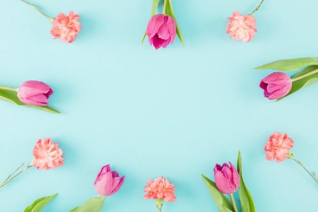 Cornice di tulipani
