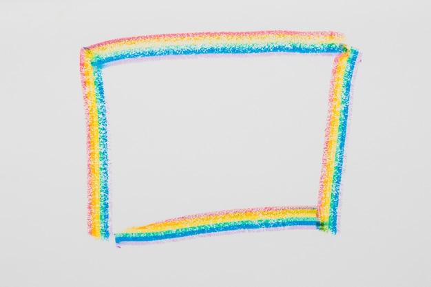 Cornice disegnata nei colori lgbt