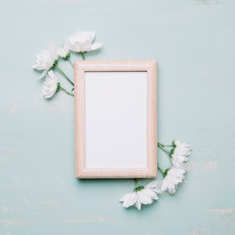 Cornice e fiori bianchi