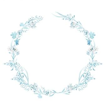 Cornice floreale dell'acquerello disegnato a mano