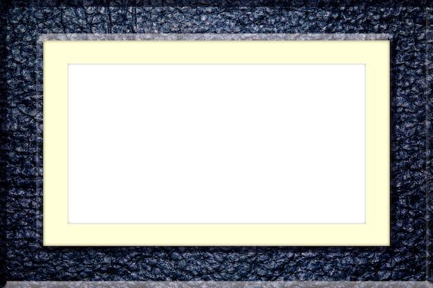 Cornice in pelle isolato su sfondo bianco