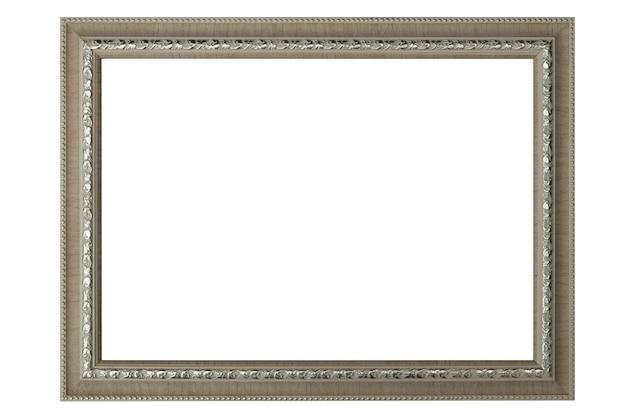 Cornice o cornice del ritratto isolata su bianco. percorso di ritaglio.