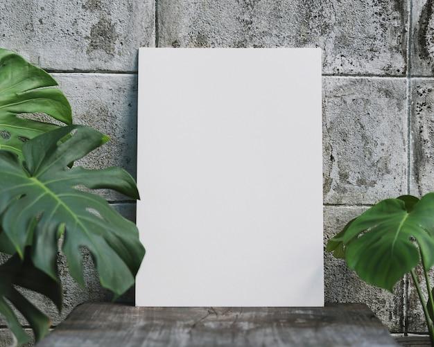Cornice per foto in bianco per il design