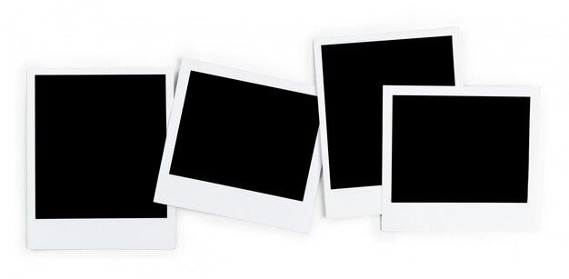 Cornice per foto isolata su bianco