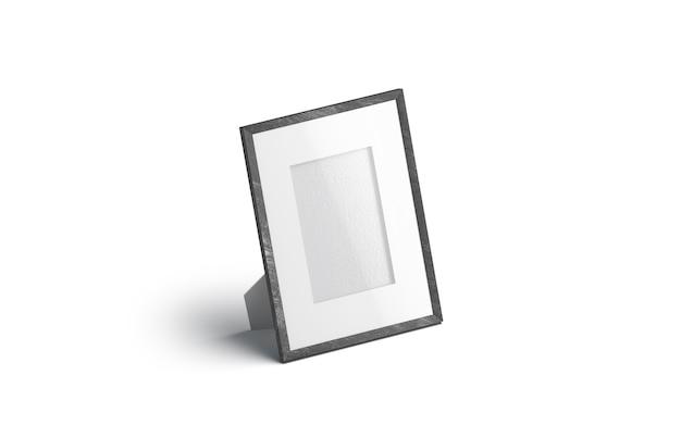 Cornice per foto tavolo bianco vuoto, isolata