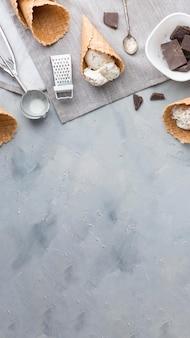Cornice per gelato piatta