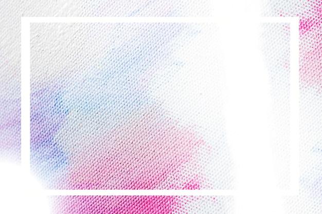 Cornice su sfondo di colore pastello